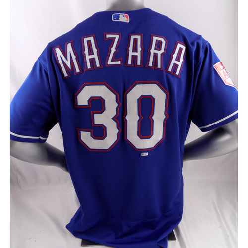 Photo of Game-Used Spring Training Jersey - Nomar Mazara - 2/27/19