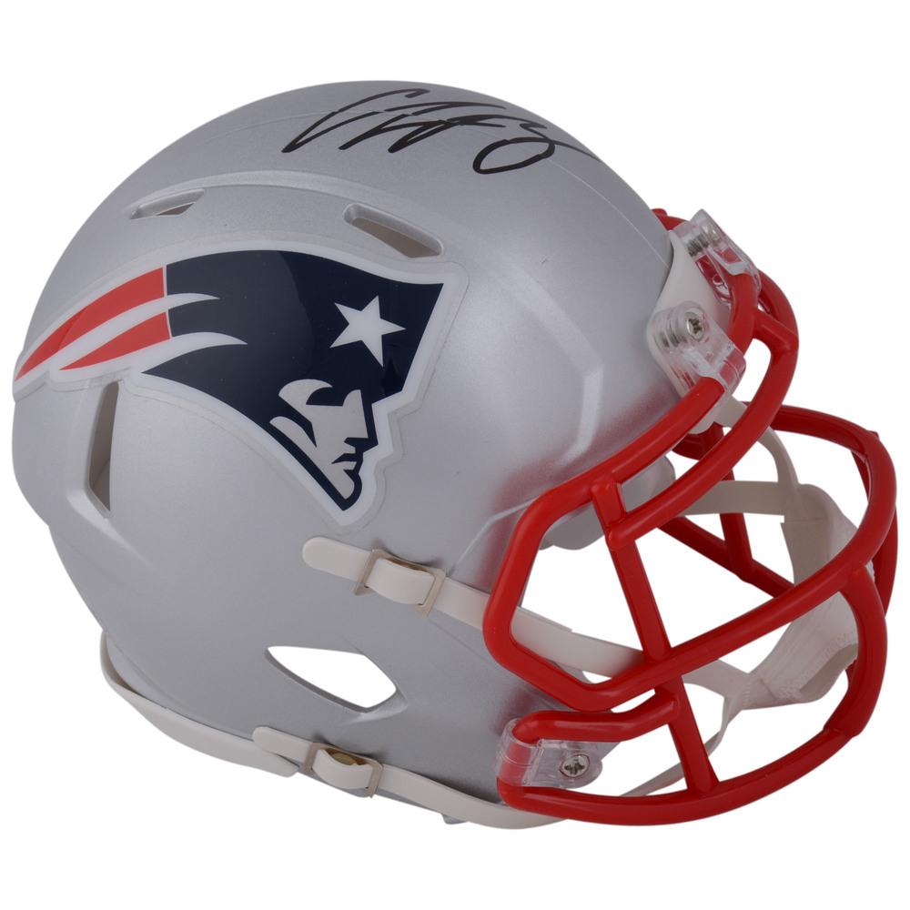 Charlie McAvoy Autographed New England Patriots Speed Mini Helmet