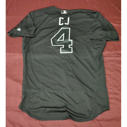 """Photo of Keon """"C.J."""" Broxton Seattle Mariners Game-Used 2019 Players' Weekend Jersey"""