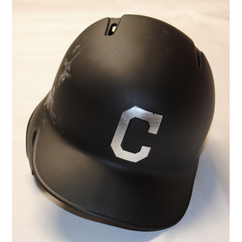 "Photo of Greg ""G"" Allen Cleveland Indians Game-Used 2019 Players' Weekend Helmet (Left Handed)"