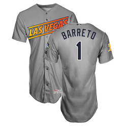 Photo of Franklin Barreto #1 Las Vegas Aviators 2019 Road Jersey
