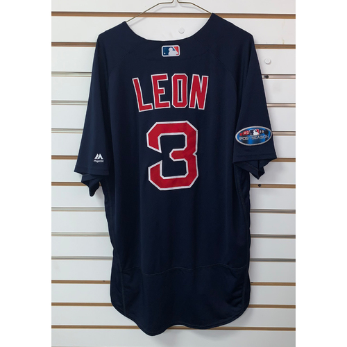 Sandy Leon Team Issued 2018 Postseason Road Alternate Jersey