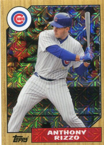 Photo of 2017 Topps '87 Topps Silver Pack Chrome #87ARI Anthony Rizzo S2