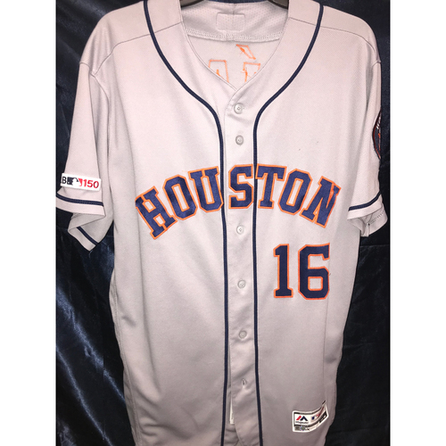 Photo of 2019 Game-Used Aledmys Diaz Road Gray Jersey (Size 46)