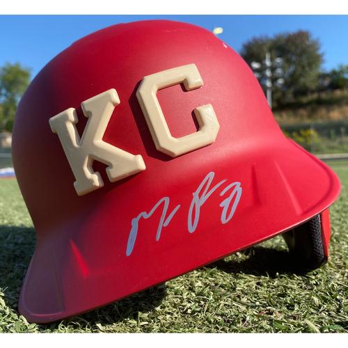 Autographed/Game-Used Monarchs Helmet: Maikel Franco #7 (STL @ KC 9/22/20) - Size 7 3/8