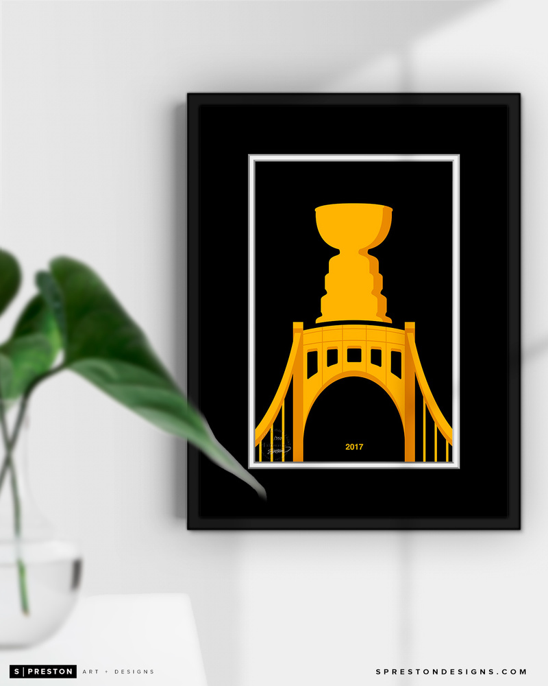 Pittsburgh Penguins Minimalist Stanley Cup 2017 Limited Edition Art Print (#6/42)