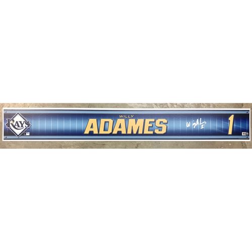 Photo of Rays Baseball Foundation: Team Issued Autographed Locker Tag - Willy Adames