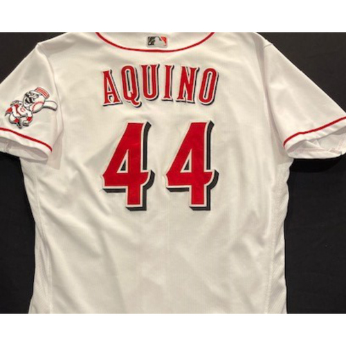 Photo of Aristides Aquino -- 2020 Home White Jersey -- Team Issued -- Size 46