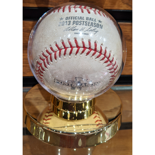 Photo of 2013 ALDS Game 1 Tampa Bay Rays vs. Boston Red Sox October 4, 2013 Game Used Baseball - Matt Moore to David Ortiz Fouled