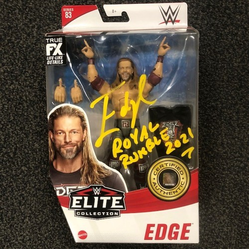 Photo of Edge SIGNED WWE Elite Series 83 Action Figure