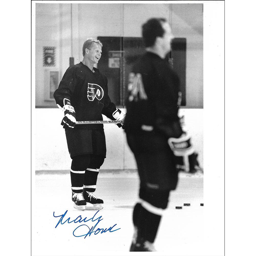 Mark Howe Autographed Philadelphia Flyers 7X9 Photo