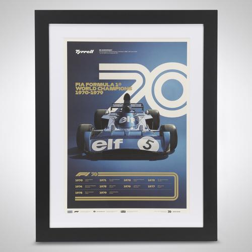 Photo of World Champions Automobilist Poster 1970 - 1979