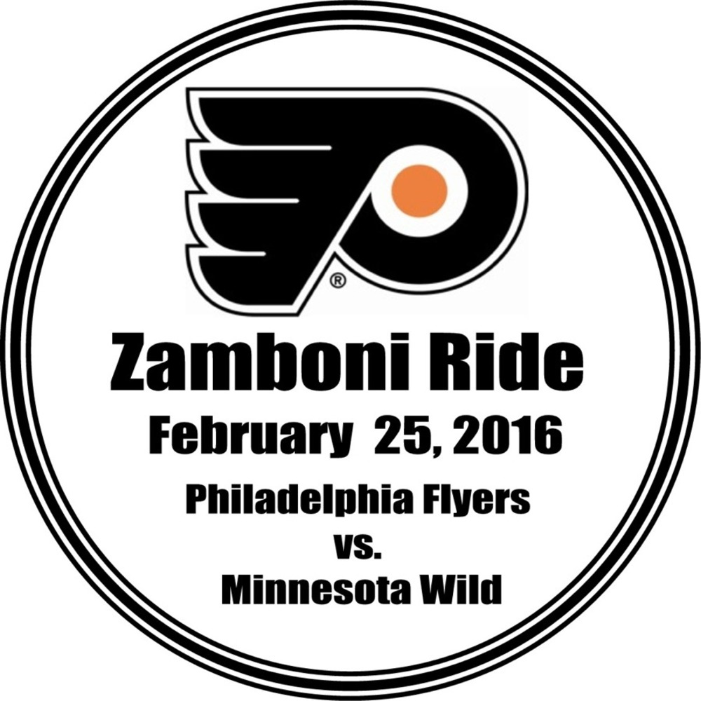 Zamboni Ride And Two Game Tickets Philadelphia Flyers February