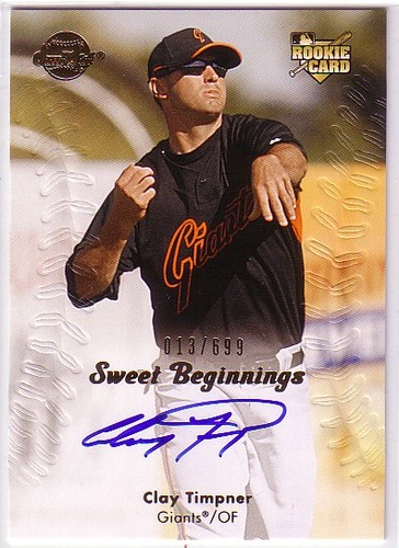 Photo of 2008 Sweet Spot #115 Clay Timpner AU/699 (RC)
