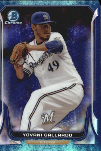 Photo of 2014 Bowman Chrome Bubble Refractors #58 Yovani Gallardo