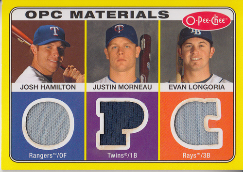 Photo of 2009 O-Pee-Chee Materials #HML Evan Longoria/Justin Morneau/Josh Hamilton