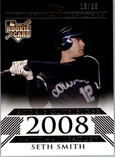 Photo of 2008 Topps Moments and Milestones Black #167 Seth Smith