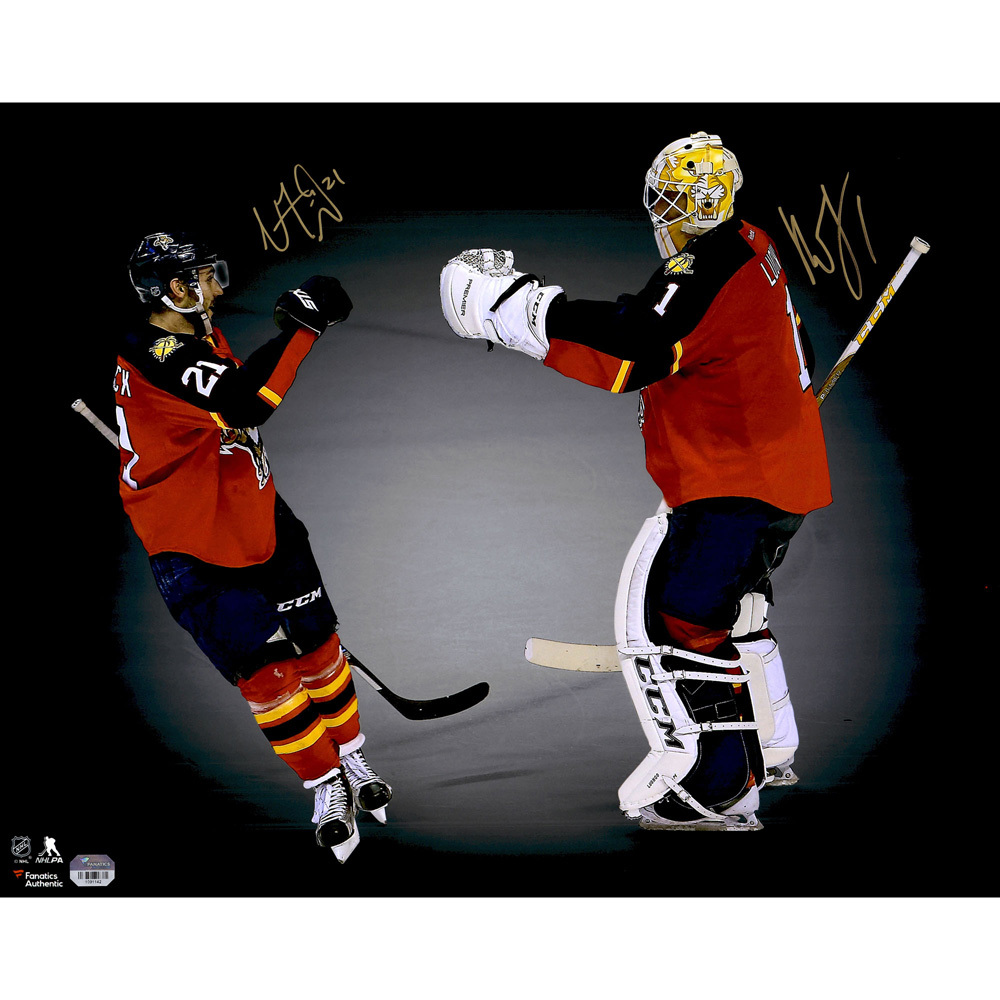 Roberto Luongo and Vincent Trocheck Florida Panthers Autographed 16