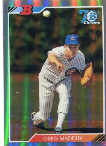 Photo of 2017 Bowman Chrome '92 Bowman Refractors #92BGM Greg Maddux