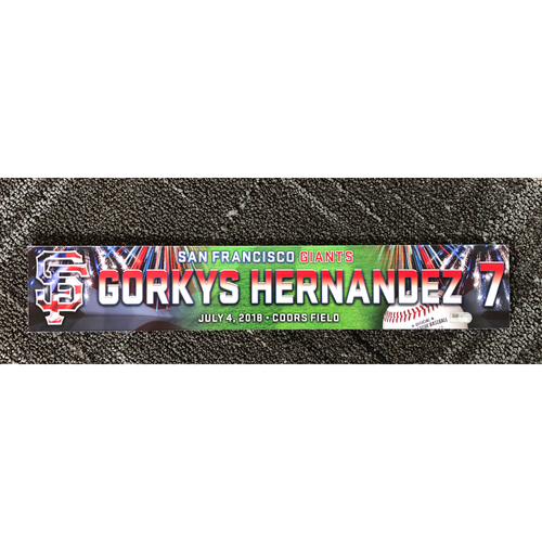 Photo of San Francisco Giants - 2018 Stars & Stripes Locker Name Plate - #7 Gorkys Hernandez