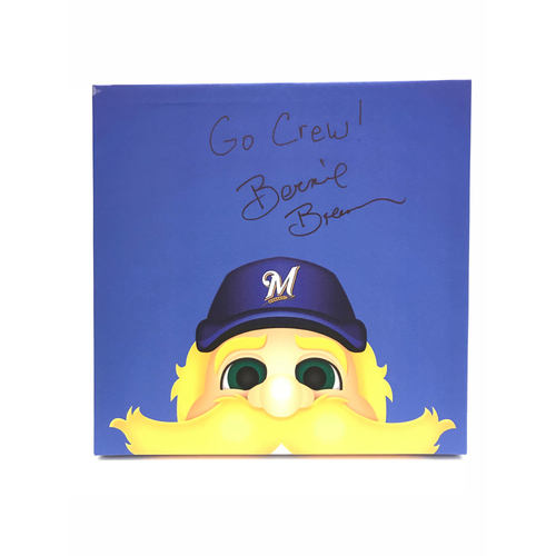 Photo of Autographed Bernie Brewer Canvas Print - Brewers
