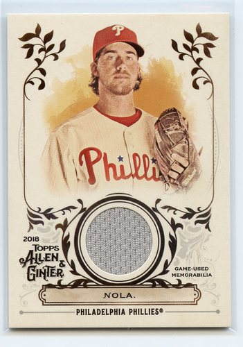 Photo of 2018 Topps Allen and Ginter Relics #FSRAAN Aaron Nola A