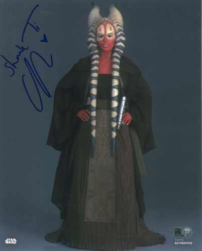 Orli Shoshan As Shaak Ti 8X10 Autographed in Blue Ink Photo