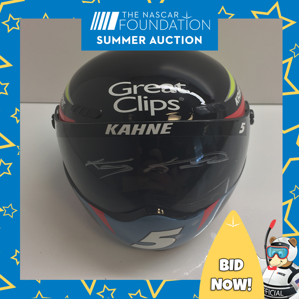 Kasey Kahne Autographed Great Clips Mini-Helmet