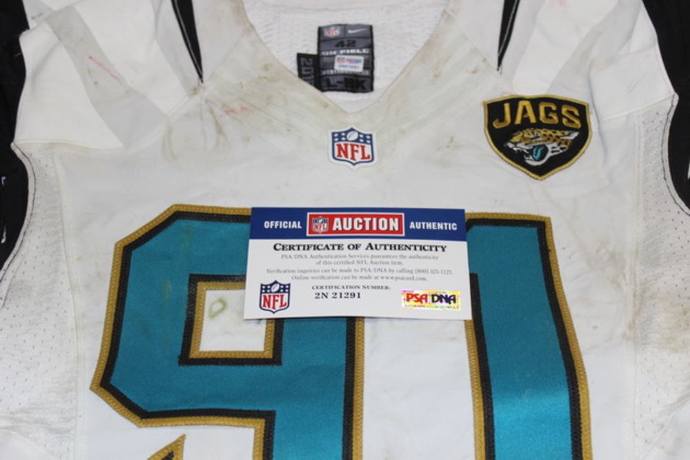 Crucial Catch - JAGUARS CHRIS CLEMONS GAME WORN JAGUARS JERSEY (OCTOBER 18, 2015)
