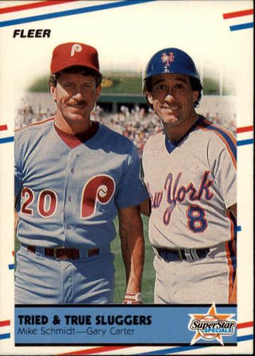 Photo of 1988 Fleer #636 Mike Schmidt/Gary Carter