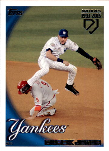 Photo of 2017 Topps Archives Derek Jeter Retrospective #DJ18 Derek Jeter/'10 Topps REPRINT