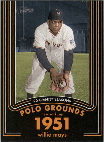 Photo of 2020 Topps Heritage 20 Gigantic Seasons #2 Willie Mays