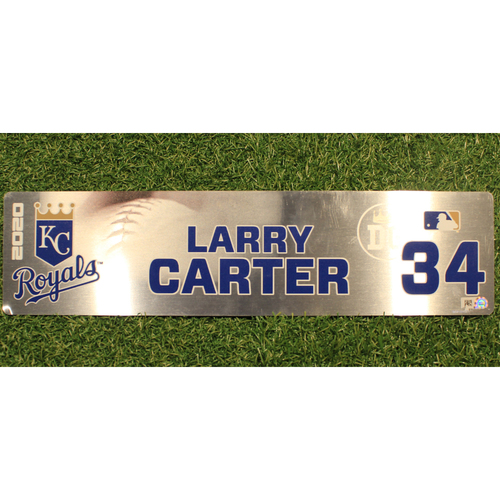 Game-Used Locker Tag: Larry Carter #34 (DET @ KC 9/24/20)