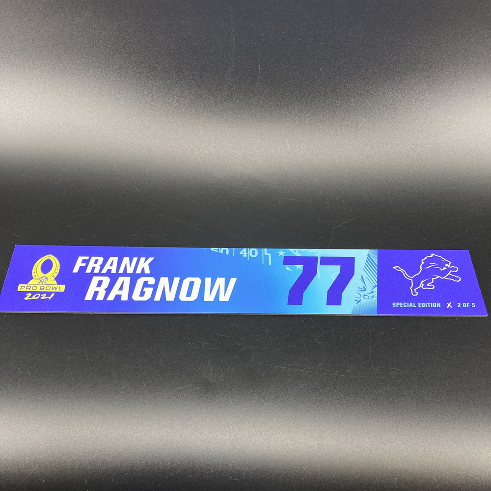 NFL - Lions Frank Ragnow 2021 Pro Bowl Locker Nameplate Special Edition #2 of 5
