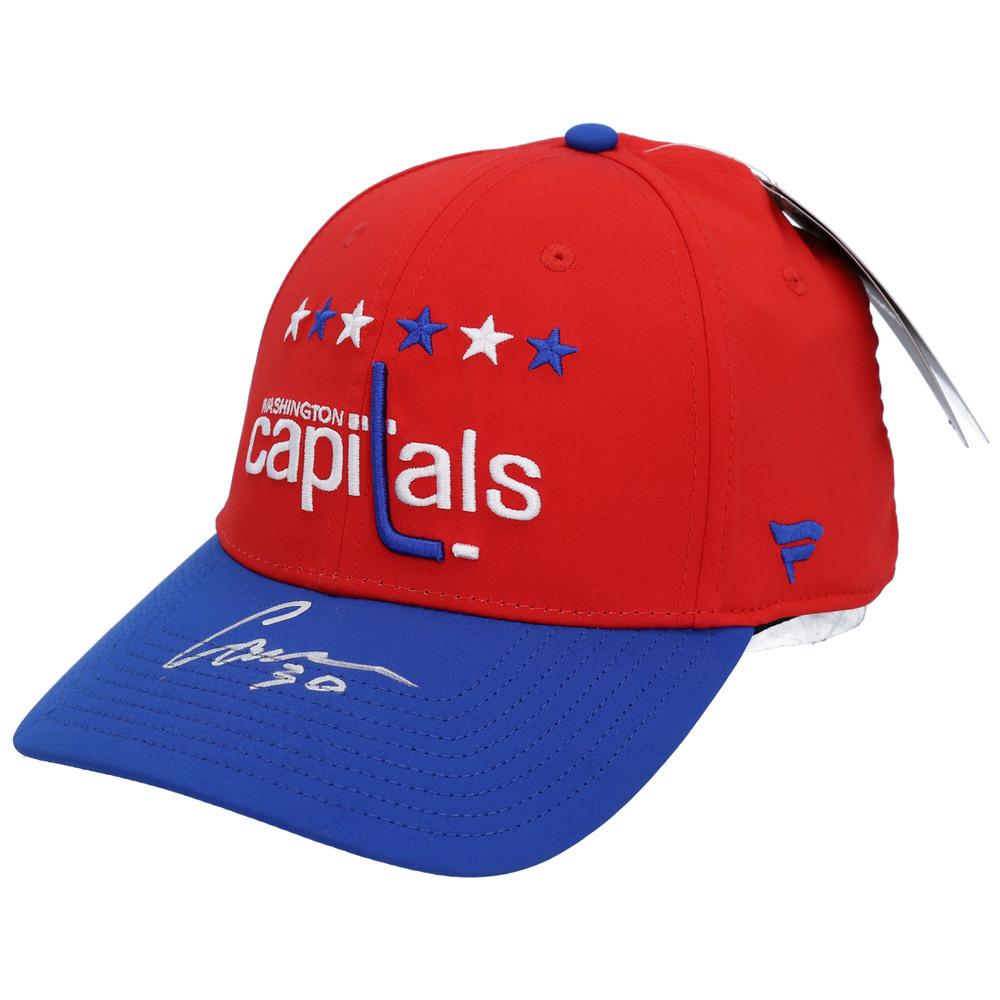 Ilya Samsonov Washington Capitals Autographed Red Alternate Logo Cap - NHL Auctions Exclusive