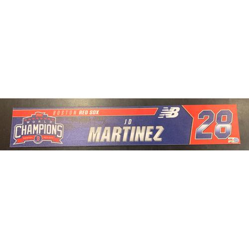 Photo of JD Martinez Team Issue Locker Tag