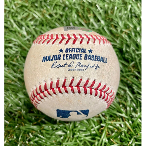 Photo of Game Used Baseball: Rich Hill strikes out Clint Frazier - Rich Hill's 300th Career Game - Top 7 - May 13, 2021 v NYY
