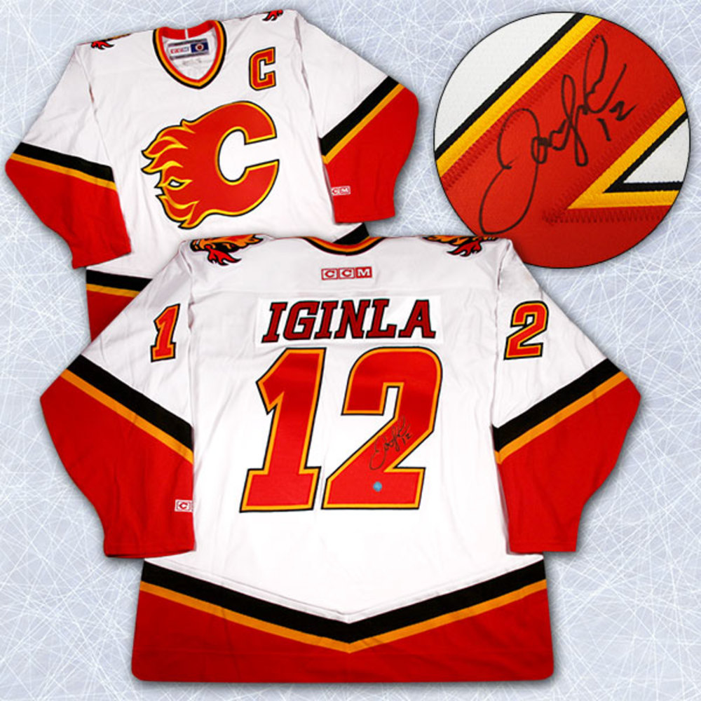 Jarome Iginla Calgary Flames Autographed 2004 Stanley Cup Finals Jersey