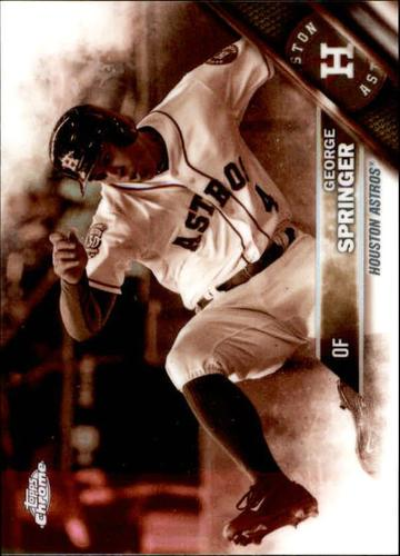 Photo of 2016 Topps Chrome Sepia Refractors #35 George Springer