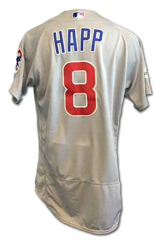 Ian Happ Game-Used Jersey -- NLDS Game 2 -- Cubs at Nationals -- 10/7/17