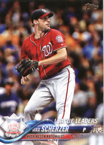 Photo of 2018 Topps #346 Max Scherzer LL