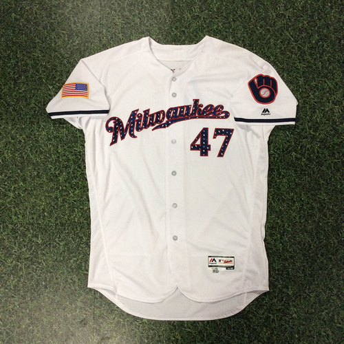 Photo of Jett Bandy Team-Issued 2018 Stars & Stripes Jersey