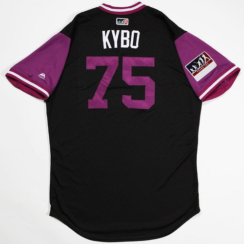 "Photo of Kyle ""KYBO"" Cunningham  Colorado Rockies Team-Issued 2018 Players' Weekend Jersey"
