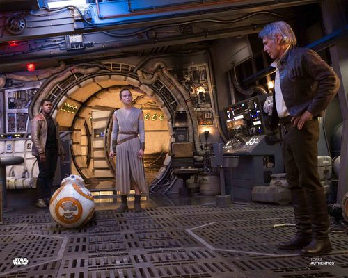 Han Solo, Rey, Finn and BB-8