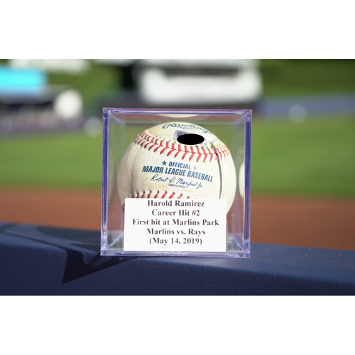 Photo of Game-Used Baseball: Harold Ramirez Career Hit #2 - First Career Hit at Marlins Park (May 14, 2019)