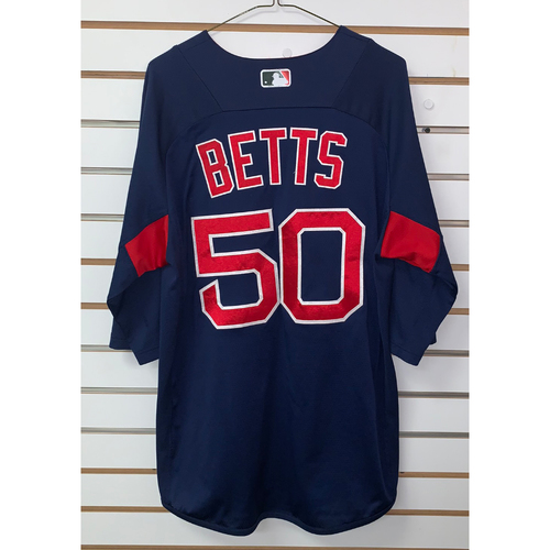 Photo of Mookie Betts Team Issued Road Batting practice Jersey