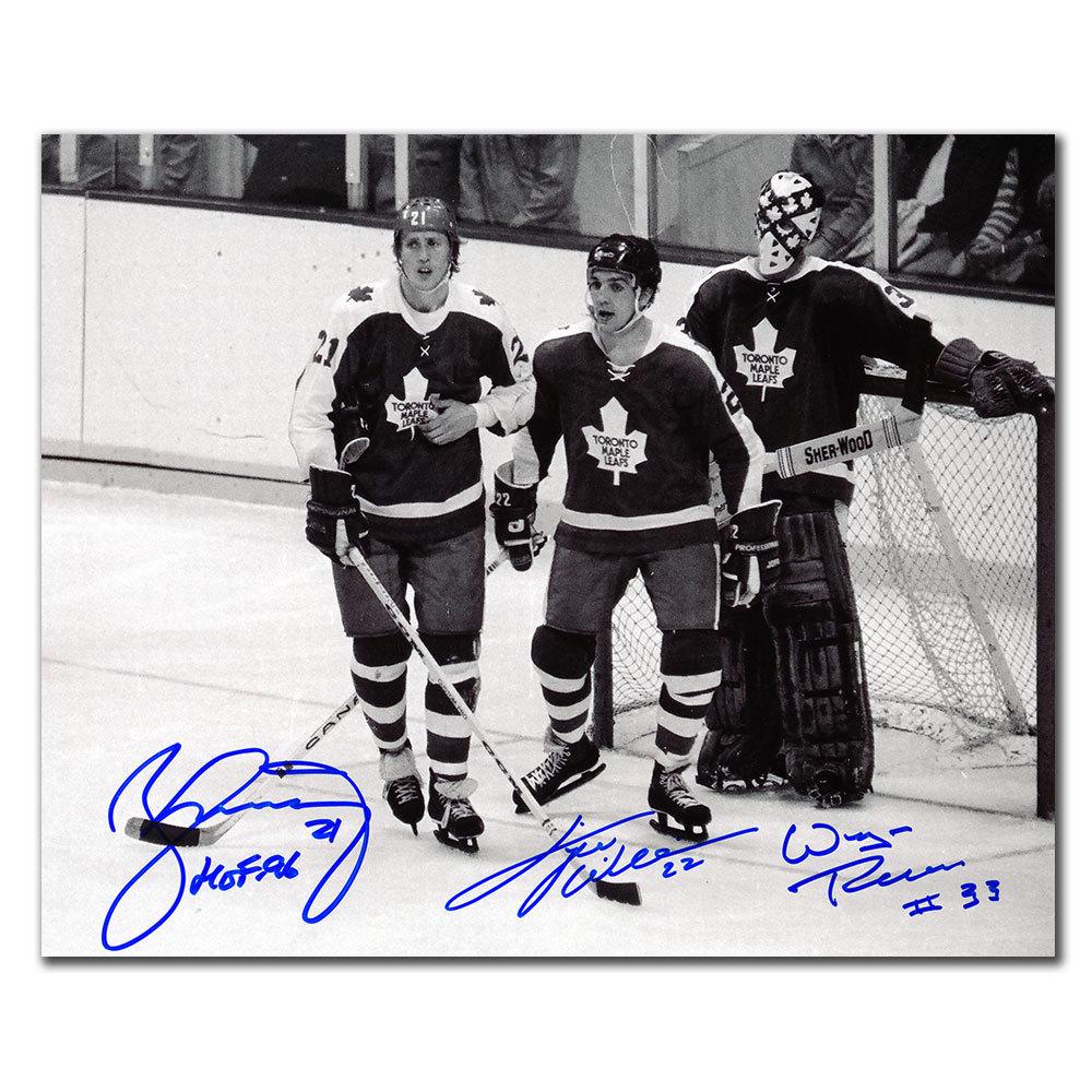 Borje Salming Tiger Williams & Wayne Thomas Toronto Maple Leafs Autographed 8x10