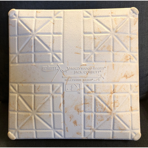 Photo of Game-Used Third Base - 2020 World Series - Los Angeles Dodgers vs. Tampa Bay Rays - Game 4: Innings 7-9