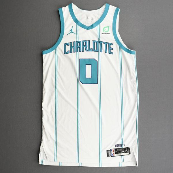 Image of Miles Bridges - Charlotte Hornets - Kia NBA Tip-Off 2020 - Game-Worn Association Edition Jersey