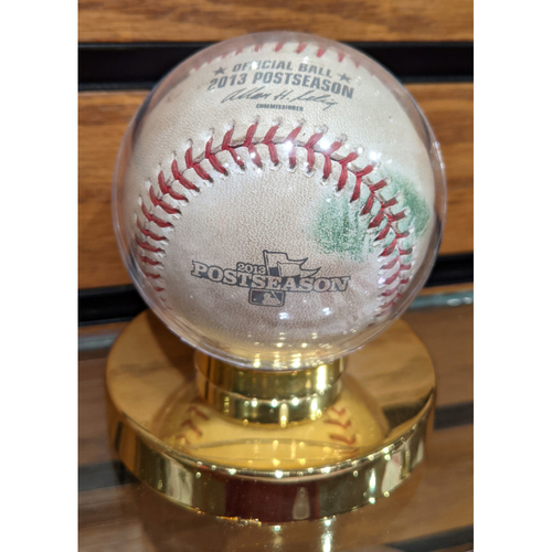 Photo of 2013 ALCS Game 1 October 12, 2013 Red Sox vs. Tigers Game Used Baseball - Smyly to Ortiz Pitch in Dirt